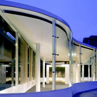 exterior curved glass